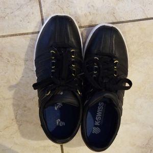 K-Swiss Black Leather Sneakers